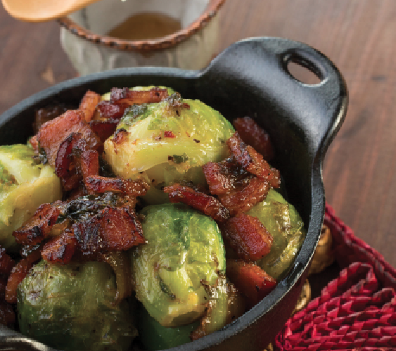 Honey Bacon Brussel Sprouts